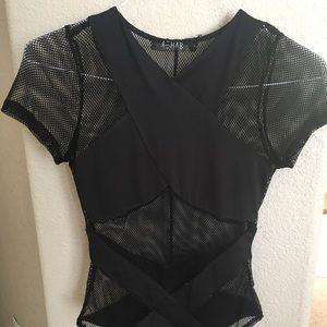 DOLLSKILL Black fishnet bodysuit